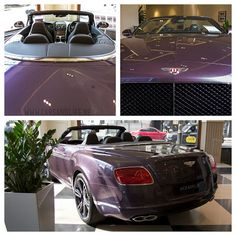 Cars & Life | Cars Fashion Lifestyle Blog: Purple Bentley Continental GTC in HR Owen, London #PinItForwardUK