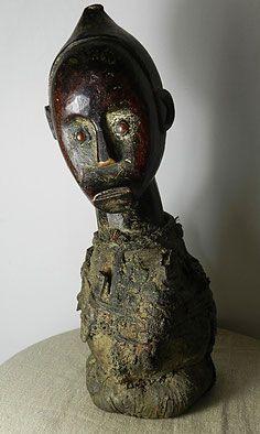 Fétiche statue reliquaire ancêtre Fang Gabon Afrique Art-premier