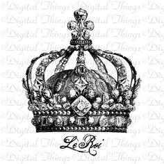 Französische Krone Fleur de Lis The King von DigitalThings auf Etsy