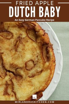 This delicious Fried Apple Dutch Baby is easy to make and full of yummy cinnamon and apples. A Dutch Baby is a fun and fast baked German pancake.  Everybody will love having a slice for breakfast. German Pancakes, Pancakes Easy, Pancakes And Waffles, Homemade Breakfast, Breakfast Recipes, Christmas Recipes, Holiday Recipes, One Pot Meals, Easy Meals