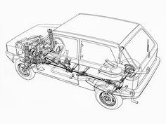 1983-86 Fiat Panda 4x4 designed by Italdesign - Illustrator unknown