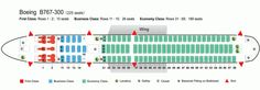 Air canada boeing 767 300er plane seat map air canada for Interieur avion westjet