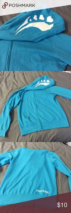 Insomniac Blue Sweater Insomniac sweater! It's thin, didn't wear 🍍 Bundle it with your faves on my Poshmark! insomniac Sweaters