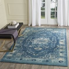 Shop for Safavieh Evoke Navy/ Gold Rug (8' x 10'). Get free shipping at Overstock.com - Your Online Home Decor Outlet Store! Get 5% in rewards with Club O!