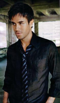 Enrique Iglesias, he should wear dress shirts more often.