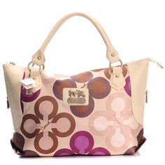 Coach Fashion Monogram Large Ivory Totes BXK Give You The Best feeling!