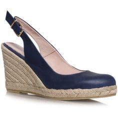 1e326aea732 Kat Carvela Kurt Geiger Navy (975 ARS) ❤ liked on Polyvore featuring shoes,