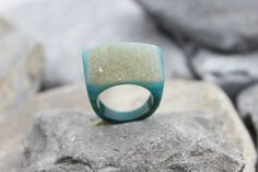 Druzy agate ring carved gemstone all stone drusy chunky unique hand made us6.5    eBay