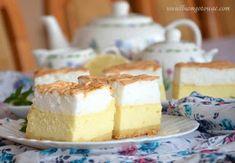 Sernik z rosą - delikatny, lekki sernik z bezą Vanilla Cake, Cheesecake, Food And Drink, Pudding, Products, Recipes, Kuchen, Cheesecakes, Custard Pudding