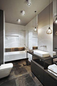 Wrocław / Wojszyce, mieszkanie - 68m2 : Modernistyczna łazienka od razoo-architekci