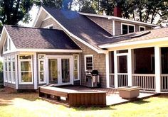 Sunroom Adjacent To Low To Grade Deck   Sunrooms Photo Gallery. Charlotte  ...