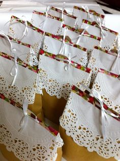 goody bag gift bag doily. Easy goody bag with washi tape.