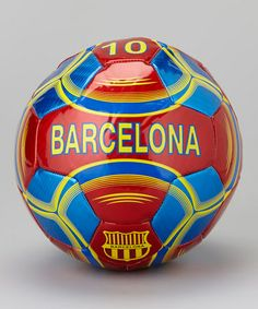 Take a look at this Burgundy & Blue Barcelona Soccer Ball by Vizari on #zulily today!