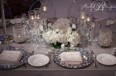 Crystal Charger Plates