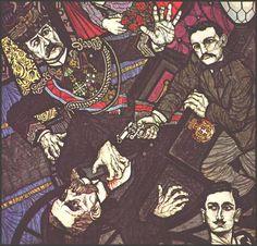 Gaetano Bresci spara a Umberto I. Opera di Flavio Costantini, 1974. #arte #Anarchia