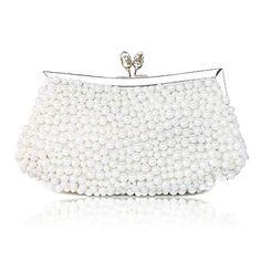Elegant Silk with Pearls Evening Handbag/Clutches – EUR € 24.74