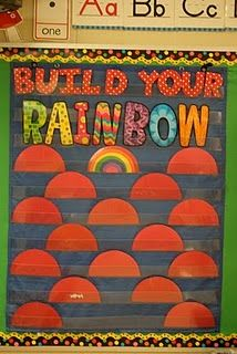 PBIS incentive... if a child is caught going the extra mile for good behavior, he/she can earn a  piece for their rainbow...once rainbow is complete, he/she will  receive a reward.