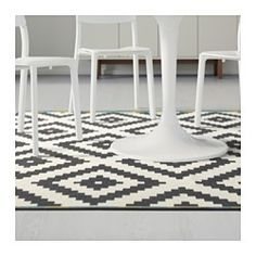 "LAPPLJUNG RUTA Rug, low pile, white, black - white/black - 6 ' 7 ""x6 ' 7 "" - IKEA"