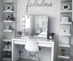 Home decor bedroom - 10 Easy DIY Makeup Vanity Ideas 10 DIY Easy Ideas Makeup Vanity decor interior DIY homedecor decoration farmhouse bedroom Bedroom Makeup Vanity, Makeup Room Decor, Diy Makeup Vanity, Vanity Room, Easy Makeup, Makeup Ideas, Makeup Rooms, Makeup Vanities Ideas, Simple Makeup