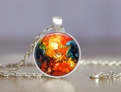 Jewelry  25mm Abstract 3 Necklace  Choice of by MaDGreenCreations, $13.50