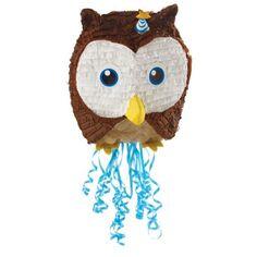 "19""+Owl+Blue+Pull-String+Pinata"