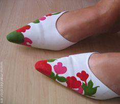 Zapatos para boda pintados a juego con el vestido — El Blog de Mar