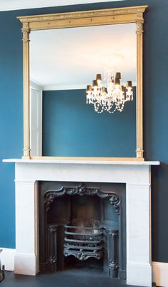 No.21 Large Neo Classical Overmantel Mirror