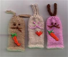 Free Knitting Pattern - Toys, Dolls & Stuff Animals: Rabbit Finger Puppets