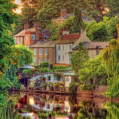 Canal village england. Knaresborough #gbravel http://www.europealacarte.co.uk/blog/2013/04/18/gbtravel-hashtag-great-britain-travel-tweets/