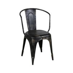 A classic cafe chair gets a dose of modernity in a rustic, weathered-through-the-years finish. Indoors or out, this simple silhouette will feel bold and exciting in any space. A steel frame with a slat...  Find the O'Leary Distressed Armchair, as seen in the Onstage in Nashville Collection at http://dotandbo.com/collections/onstage-in-nashville?utm_source=pinterest&utm_medium=organic&db_sku=113770