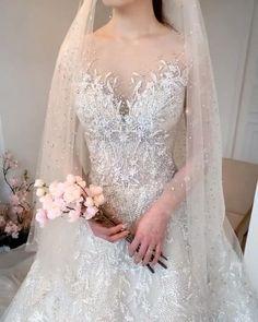 Gorgeous A Line Wedding Gown – My Wedding Dream Wedding Dress Sleeves, Elegant Wedding Dress, Perfect Wedding Dress, Wedding Dress Styles, Dream Wedding Dresses, Bridal Dresses, Wedding Gowns, Wedding Hijab, Bride Lingerie
