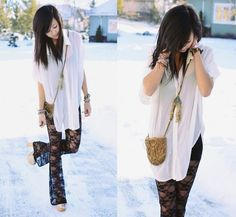 cool outfit White black