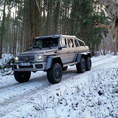 DRIVING BENZES — Mercedes-Benz G 63 AMG 6x6 (Instagram @gtspirit)