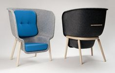 Pod - Privacy Chair by Benjamin Hubert - Made from recycled plastic bottles!!!
