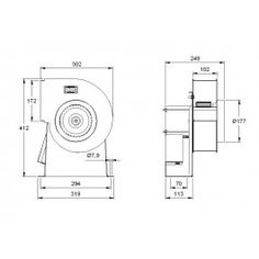 Centrifugal Extractor Fan Fans Cad Drawing