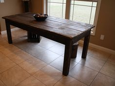 Unique Primtiques Rustic Dark Walnut Stained & Distressed FARM HOUSE Country Farmhouse Kitchen Cabin Table Custom Sizes Colors Upon Request Country Farmhouse, Farmhouse Table, Country Kitchen, Shop Class, Dark Walnut Stain, Wood Display, Custom Woodworking, Coastal Homes, How To Distress Wood