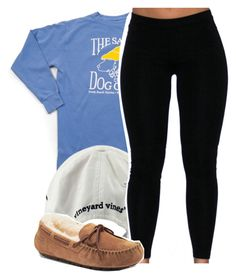 """Out to lunch"" by vindra-rampersad ❤ liked on Polyvore featuring Vineyard Vines and UGG Australia"