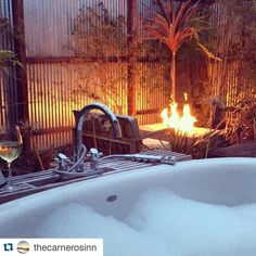 @thecarnerosinn has the right idea for this evening   This is what happens when you vacation in wine country at The Carneros Inn. An outdoor soaking tub fire pit and a glass of wine is really all we need!  Photo: @brneyes1224 #bath #fire #relax #bliss #perfection #carnerosinn #napa #visitnapavalley #ahhh #behappy #traveltuesday #vacation #trip #travel #bubbles #wine #redflowernyc #redfloweraroundtheworld #italianbloodorange by redflowernyc