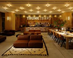 Located in the Shibuya district of Tokyo, the Trunk Hotel is an ode to its fashionable neighborhood. The hotel has a strong emphasis on local goods. Everything from the custom-made furniture to the coffee served at in the lounge is.