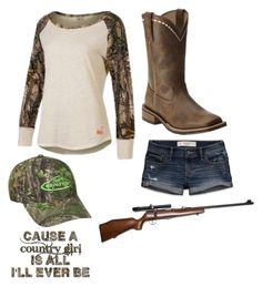 """""""Redneck Lady"""" by southern-stars ❤ liked on Polyvore featuring moda, Realtree, Ariat, Abercrombie & Fitch ve RIFLE"""