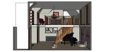 Hot House, Portfolio Images, 3d Visualization, Loft, Interior Design, Bed, Furniture, Home Decor, Nest Design