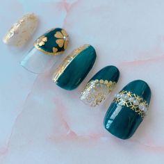 Pink Acrylic Nails, Gel Nails, Green Nail Art, Dream Nails, Fall Nail Designs, Work Nails, Makeup, Hairstyle, Gel Nail
