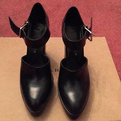 Never worn Black Zara platforms Never worn black Zara platforms. Love them but they are too small for me! Zara Shoes