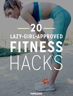 Fitness hacks for lazy girls