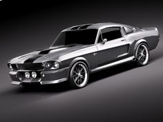 67 mustang fastback silver - Google Search