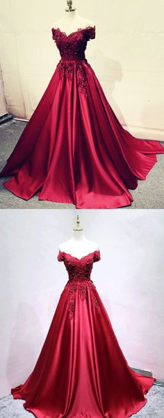burgundy lace long prom dress, lace evening dress, formal dress