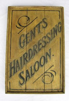 Antique Wooden Painted Trade Sign Hair Dresser Saloon $1,300