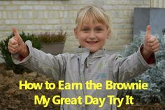 Meeting plan on how to earn the My Great Day Brownie Badge