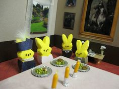 My very own creation, Peepton Abbey for the 2012 Peeps Diorama contest from the St. Paul Pioneer Press. Didn't win the toothbrush, but had waaayy too much fun making (Fun fact, all six characters I made were nominated for Emmys.)