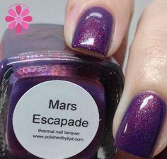 Polished by KPT Mars Escapade Holo Nail Polish, Holographic Nail Polish, Pretty Nails, Cosmic, Mars, Swatch, Indie, Artisan, Makeup